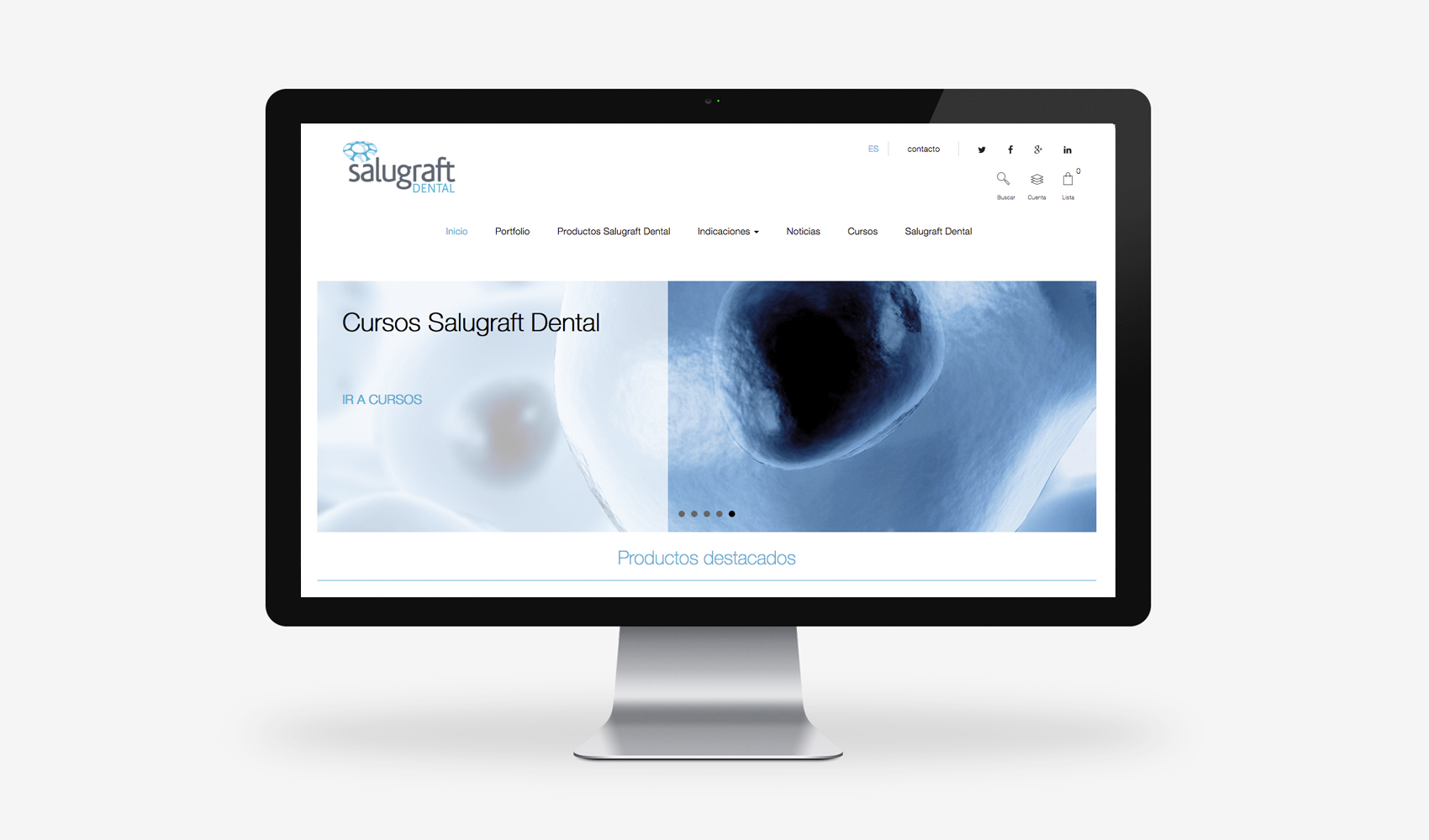 Salugraft Dental web
